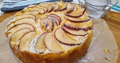 Torta de manzana con crema pastelera
