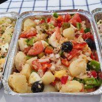 3 ensaladas de patatas: campera, alemana y papas con atún