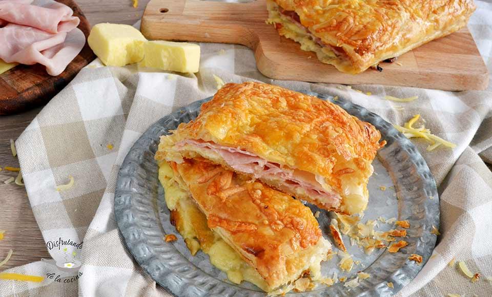 Napolitanas de jamón y queso caseras