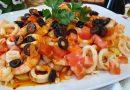 Ensalada tibia de langostinos y calamares