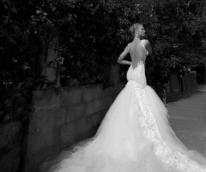 Fashion models in wedding dresses