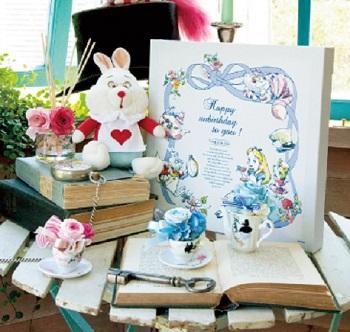 Disney Alice in wonderland 不思議の国のアリス アフタヌーンティー コラボ アートボード Afternoon Tea 限定 100