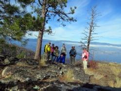 Hikers in Okanagan Mountain Park