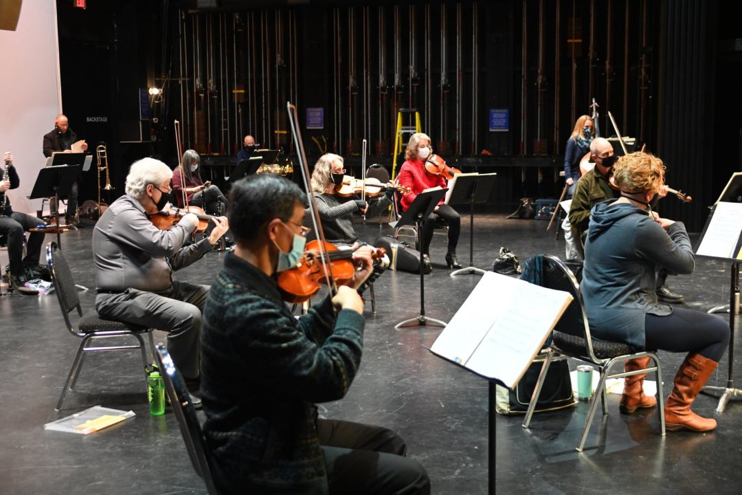 String players in rehearsal