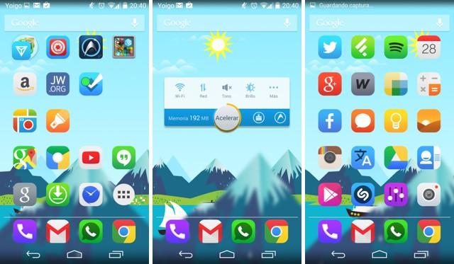 Como ordenar los iconos en diagonal en Android