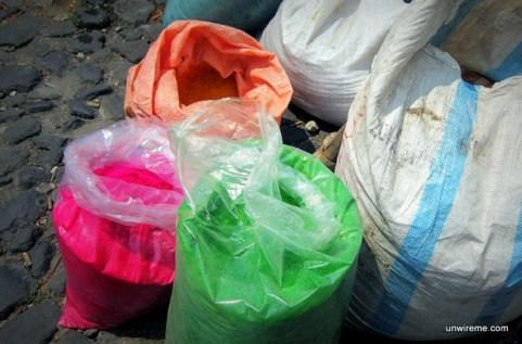 Colored Sawdust - Antigua Guatemala