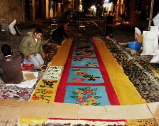 Alfombra Making (5) - Antigua Guatemala