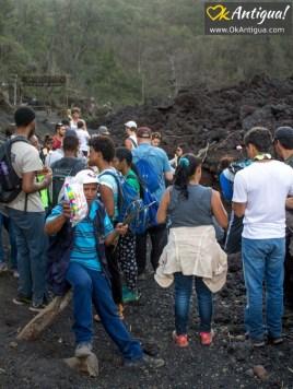 tourists pacaya volcano guatemala