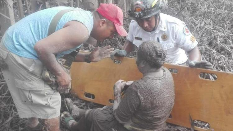 survivors from Fuego's eruptions