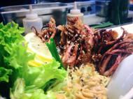 mittagstisch // fisch // ika tempura don // kalmarzöpfe im tempuramantel