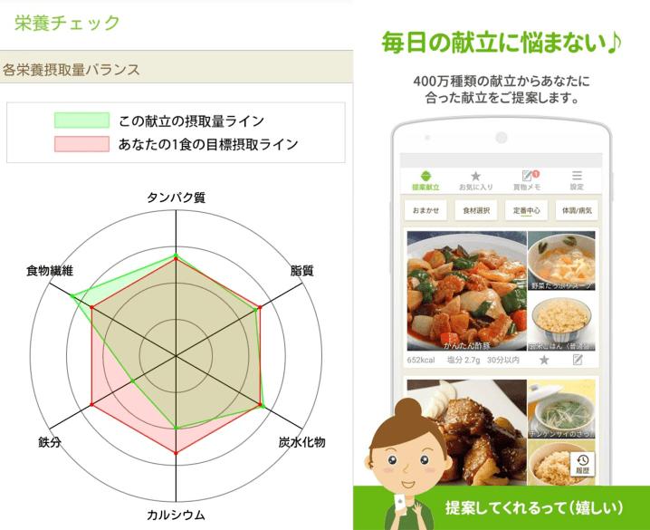 栄養素を考慮した献立を提案してくれる無料アプリ『Ohganic』