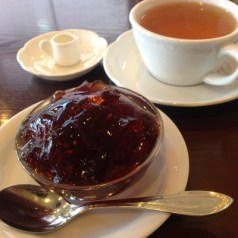 コーヒーゼリーとお紅茶