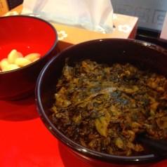 辛子高菜と生にんにくが無料トッピング