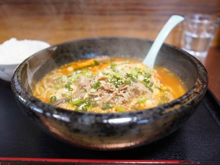 【びびん亭】ユッケジャン辛麺の全体