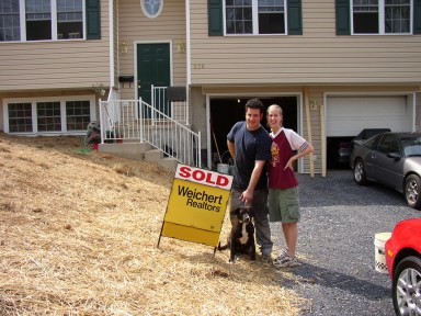 Okayest Family's first home purchase - and the racecar's first garage, 2004