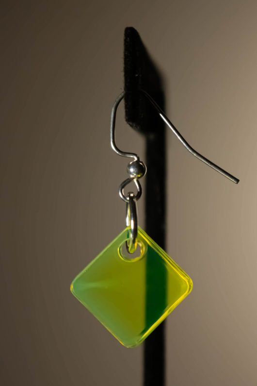 Neon Yellow Dangle Earring