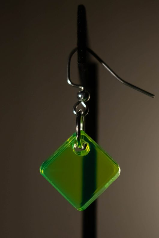 Neon Green Dangle Earring