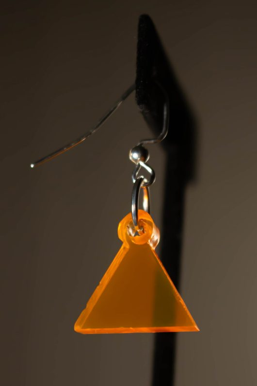 Orange Dangle Earring