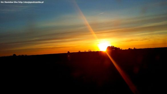 Zachód Słońca w drodze do Giżycka