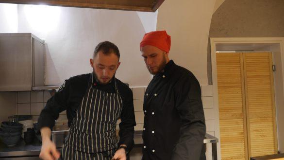 Chef's at work Akita Ramen Bar