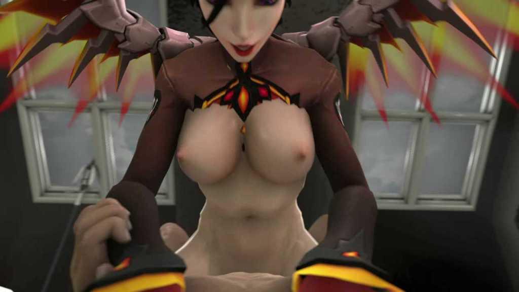 [3DCGアニメ] マーシー(アンジェラ・ジーグラー)が騎乗位で激しく腰を振り、たっぷり中出し【オーバーウォッチ(Overwatch)】 (25)