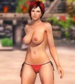 [DOA,3DCG] デッドオアアライブのヌードMODでキャラクターを全裸に剥くエロ動画 (17)