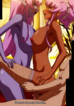 [エロアニメ,ルネ] 青肌の女悪魔と金髪爆乳の女幹部の弱みを握り、淫乱で屈辱的なお仕置き! Part2 [OVA 悪の女幹部 フルムーンナイト 第一話 肉袒牽羊] (15)