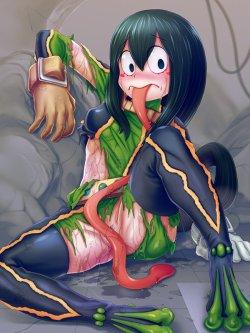 [僕のヒーローアカデミア] 蛙吹梅雨ちゃん ケロケロ可愛いエロ画像 02 (19)