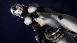 【MMD-R18,港湾棲姫】 港湾棲姫がディルドでオナニー→騎乗位でSEXするGIF・画像 (14)