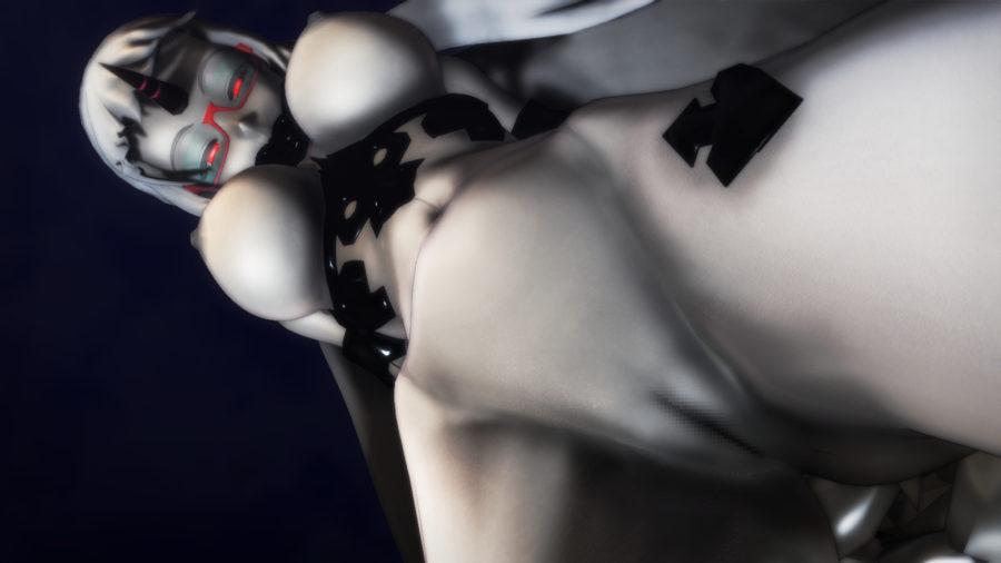【MMD-R18,港湾棲姫】 港湾棲姫がディルドでオナニー→騎乗位でSEXするGIF・画像 (24)