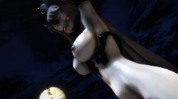 【MMD-R18,港湾棲姫】 港湾棲姫がディルドでオナニー→騎乗位でSEXするGIF・画像 (9)