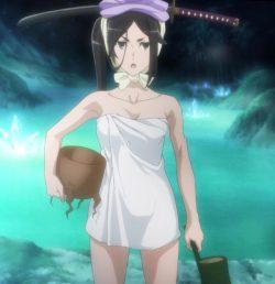 ダンジョンから戻る途中で見つけた温泉に入るが、水着が溶け出してヘスティア様があられもない姿に・・・ (47)