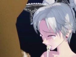 [3DCGアニメ] ゴス娘が大勢のデブ男たちに輪姦され、穴という穴をすべて犯される! (34)