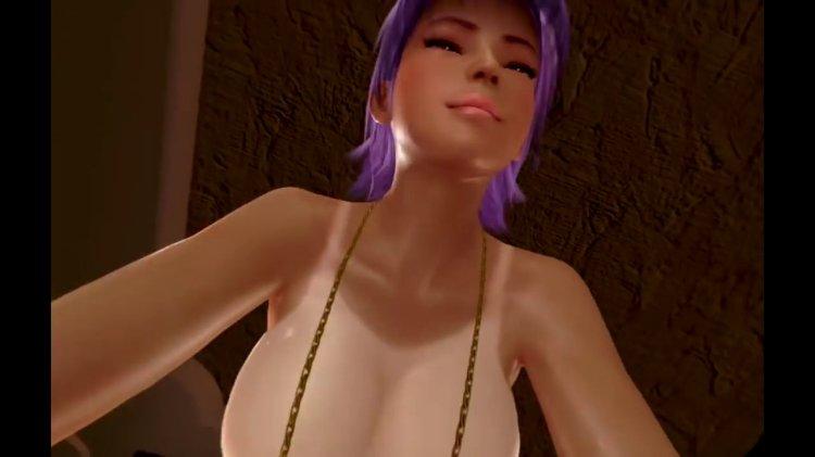 [DOAX3 VR] パラダイス 腕立て伏せの下に入る(VR Paradise push-ups) (75)