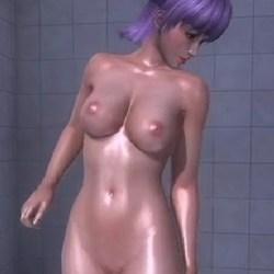 [DOA,エロアニメ] あやねのシャワーシーンを盗撮したよw  [MOD,3DCG]