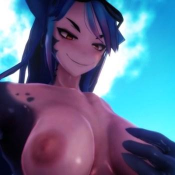 [Monster Girl Island] 爆乳&筋肉がどエロいサメ娘に組み敷かれて騎乗位セックス!(ENDING 2) [3DCGアニメ,エロゲ]