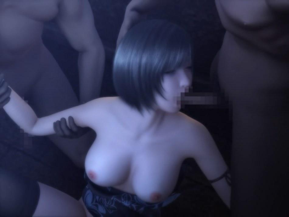 [FF7,エロ動画] ユフィが盗賊団や触手モンスターに襲われる3DCGアニメ (33)