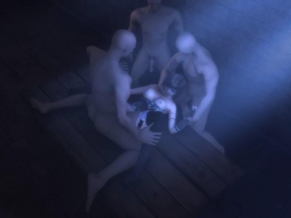 [FF7,エロ動画] ユフィが盗賊団や触手モンスターに襲われる3DCGアニメ (47)