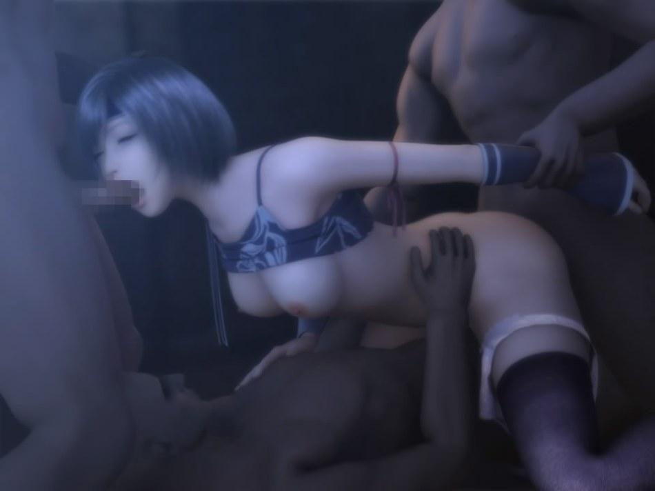 [FF7,エロ動画] ユフィが盗賊団や触手モンスターに襲われる3DCGアニメ (69)