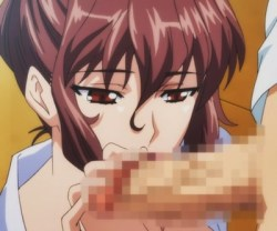 [エロアニメ] 学園の美人保険医が保健室で売春!?しばらく洗っていないチンカスチンポを濃厚お掃除フェラ!