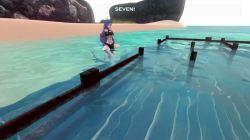 [Monster Girl Island] 筋肉がどエロいサメ娘とビーチでラブラブSEX! [3Dアニメ,エロゲ] (4)