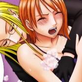 【ワンピース】ナミがカリファに徹底的に焦らされ、触っただけでイク悪魔の実の能力者にイキ狂わされる! (クリムゾン)