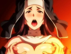 [エロアニメ] 色気あふれるムチムチ巨乳の女教師&シスターと3Pセックス! (冥刻學園 受胎編)