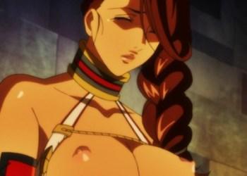【エロアニメ】褐色の巨乳女剣士が変態調教師に乳首やクリトリスに電気流されて喘ぎまくる♪ (クイーンズブレイド)