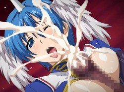[エロアニメ] 触手の魔物に襲われる巨乳少女!アナルもオ〇ンコも犯されて白濁液で汚されまくる!!