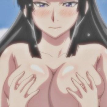 [エロアニメ] 爆乳おっぱいを揉みまくり、吸いまくり♪4P百合エロアニメ (魔乳秘剣帖)