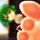 【東方MMD】足フェチ・ドM歓喜!ゆうかりんが生足で顔面踏んでくれます♪