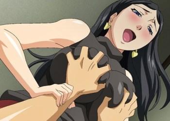 【エロアニメ】巨乳美熟女の誘惑を振り切れずに中出しセックスをしてしまう…!その間彼女が寝取られているとも知らずに……