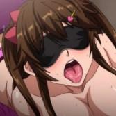 【エロアニメ】ネカフェの個室に入ったら巨乳ビッチが目隠しされてオ〇ンコ濡らして待っていた…!?