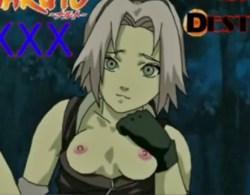 [Naruto] ナルトとサクラが野外でフェラチオ→騎乗位でセックスするエロアニメ